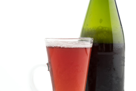 sparking: sparking apple cranberry on white background