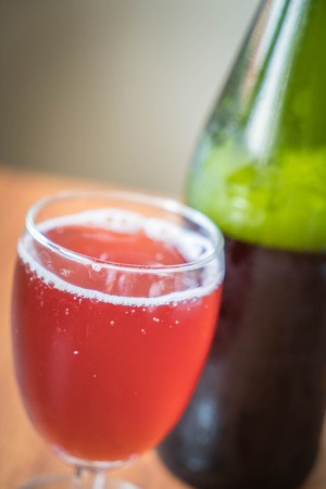 sparking: sparking apple cranberry on wood background Stock Photo