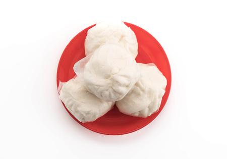 stuff: steamed stuff bun on white background Stock Photo