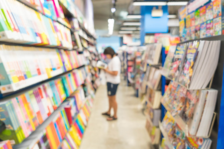 shop for: abstract blur in book shop for background