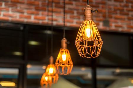 hanging lamp: hanging lamp - vintage effect filter Stock Photo