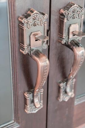 handles: classic old Door Handles - vintage filter effect