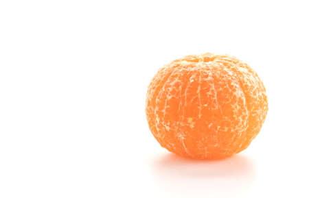 sweet segments: fresh orange on white background