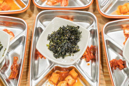 side dishes: Various vegetable side dishes - korean foods
