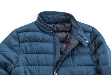 white winter: jacket on white background Stock Photo