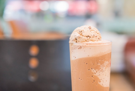 frappe: chocolate frappe with ice-cream