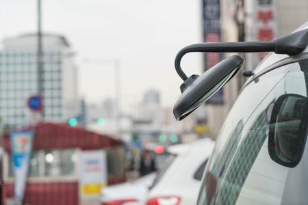 rear view mirror: rear view mirror on back car