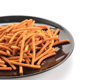 pretzel stick: Salt Stick on white background Stock Photo