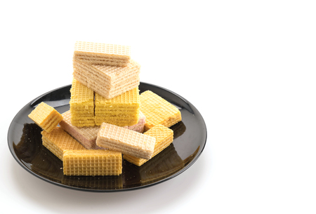 wafer: colorful wafer on white background