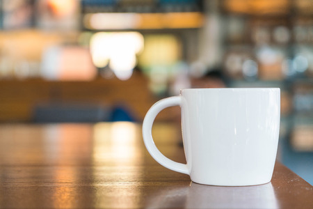 white coffee: Coffee cup in coffee shop