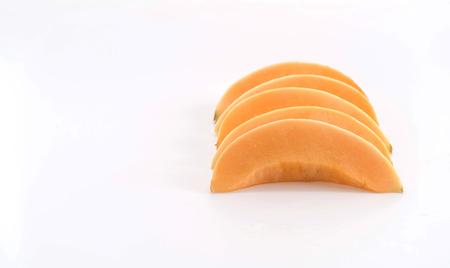 cantaloupe: fresh cantaloupe on white background