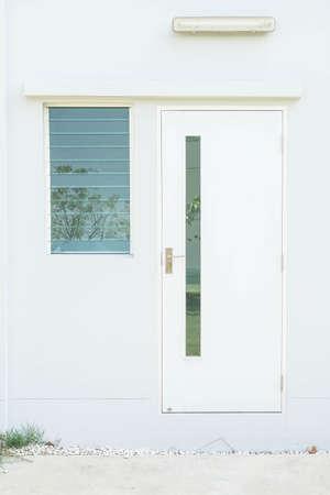 glass door: empty glass door