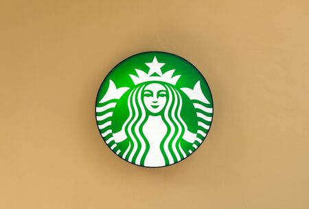 starbucks: 9 April 2016 : Thailand, Starbucks Signs. Starbucks is the largest coffeehouse company in the world.