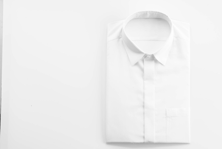 White shirt on white background 스톡 콘텐츠