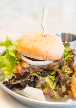teriyaki: teriyaki chicken burger