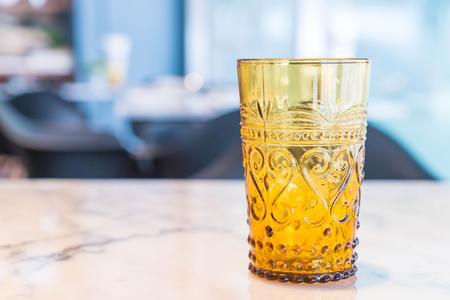 crystal glass: beautiful vintage crystal glass on table