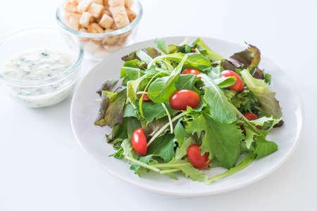 nonfat: fresh vegetable salad - healthy food
