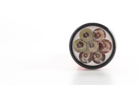 Flashlight on white background