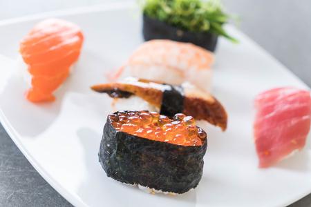 spawn: spawn sushi with mixed sushi set - japanese food Stock Photo