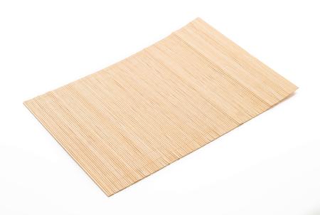 Leere Bambusmatte für Platz Ihr Essen Standard-Bild - 61321786