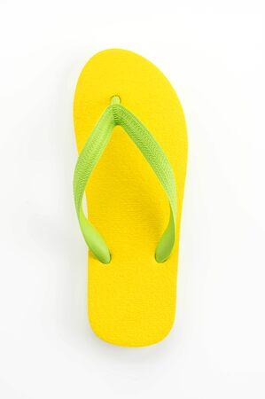 flipflops: Rubber slippers on white background Stock Photo