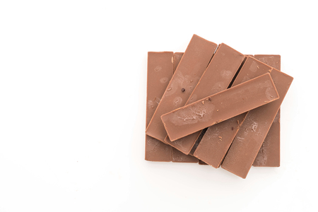 white bars: chocolate bars on white background