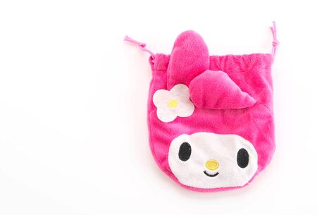 melody: BANGKOK - June 9, 2016 : Photo of My Melody on bag. My Melody is a worldwide famous cartoon of Sanrio.