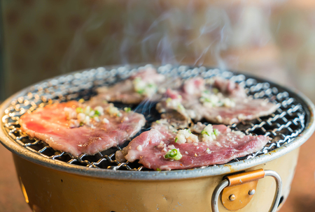 pork on charcoal grill (yakiniku)- korean style