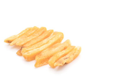 frites: french fries on white background