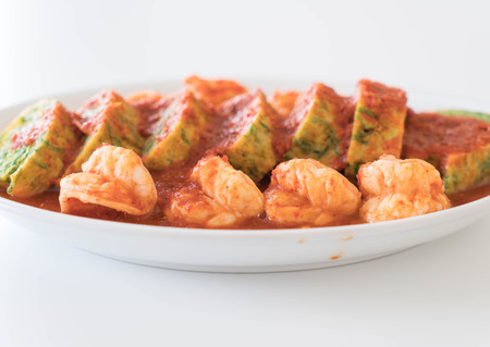 tamarindo: Accacia Leave Omelet and Shrimp in Tamarind Flavor Soup