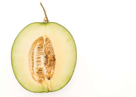 cantaloupe: cantaloupe melon on white background