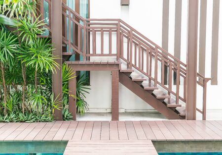 stair: wood stair decoration outdoor style