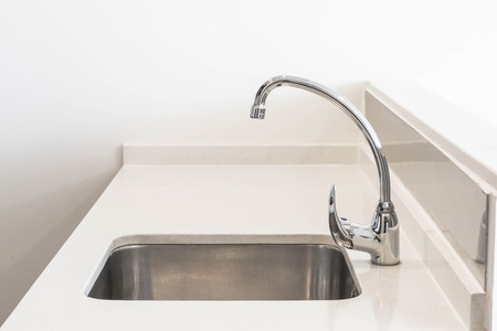 tab: Faucet Sink and water tab decoration in kitchen room interior