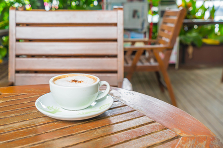 mocca: hot mocca in coffee shop Stock Photo