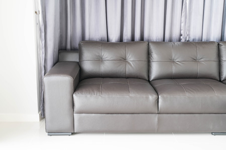 modern sofa: modern sofa interior decoration in living room Stock Photo