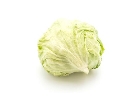 bisected: fresh lettuce on white background