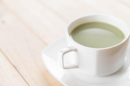 a cup of matcha latte green tea