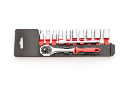 socket wrench: socket wrench on white background