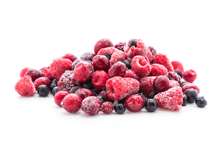 frozen mixed berry on white background Stock Photo - 64878878