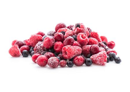 frozen mixed berry on white background Stock Photo