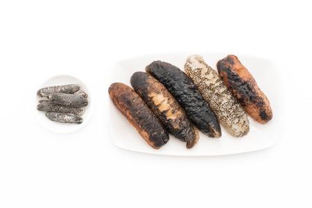 sea slug: sea ??cucumber on white background