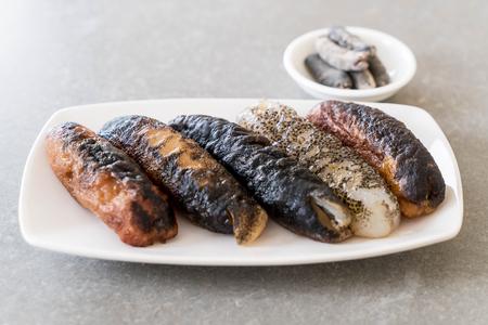 sea slug: sea ??cucumber on the table