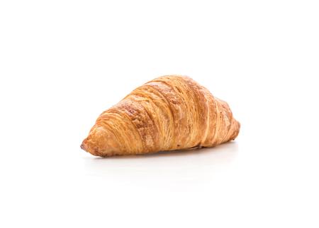 backgroud: butter croissant on white backgroud Stock Photo