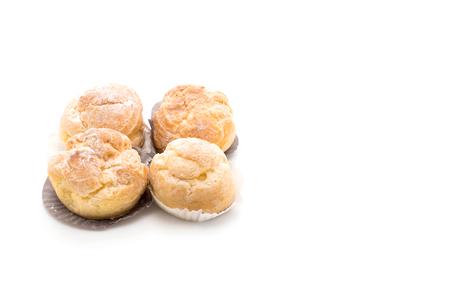cream puff on white background