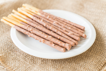 almond biscuit: biscuit stick with almond flavored