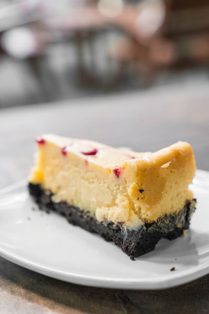 raspberry cheese cake with whipped cream
