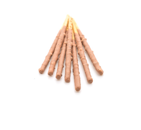 almond biscuit: biscuit stick with almond flavored on white background