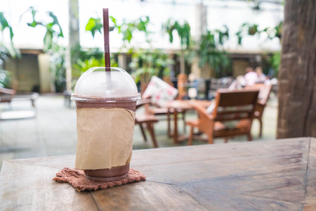 chocolate frappe in the cafe Stock Photo