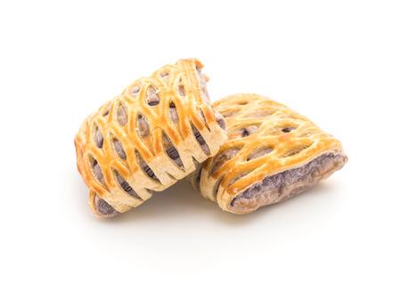 puff: taro pies on white background