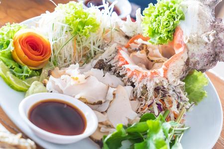 fresh conch sashimi on plate